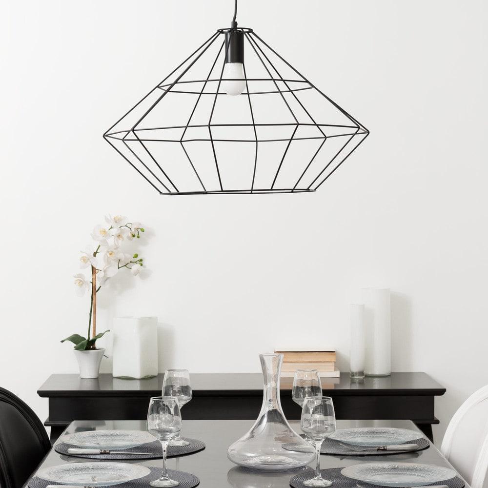 suspension filaire noire d57 origami maisons du monde. Black Bedroom Furniture Sets. Home Design Ideas