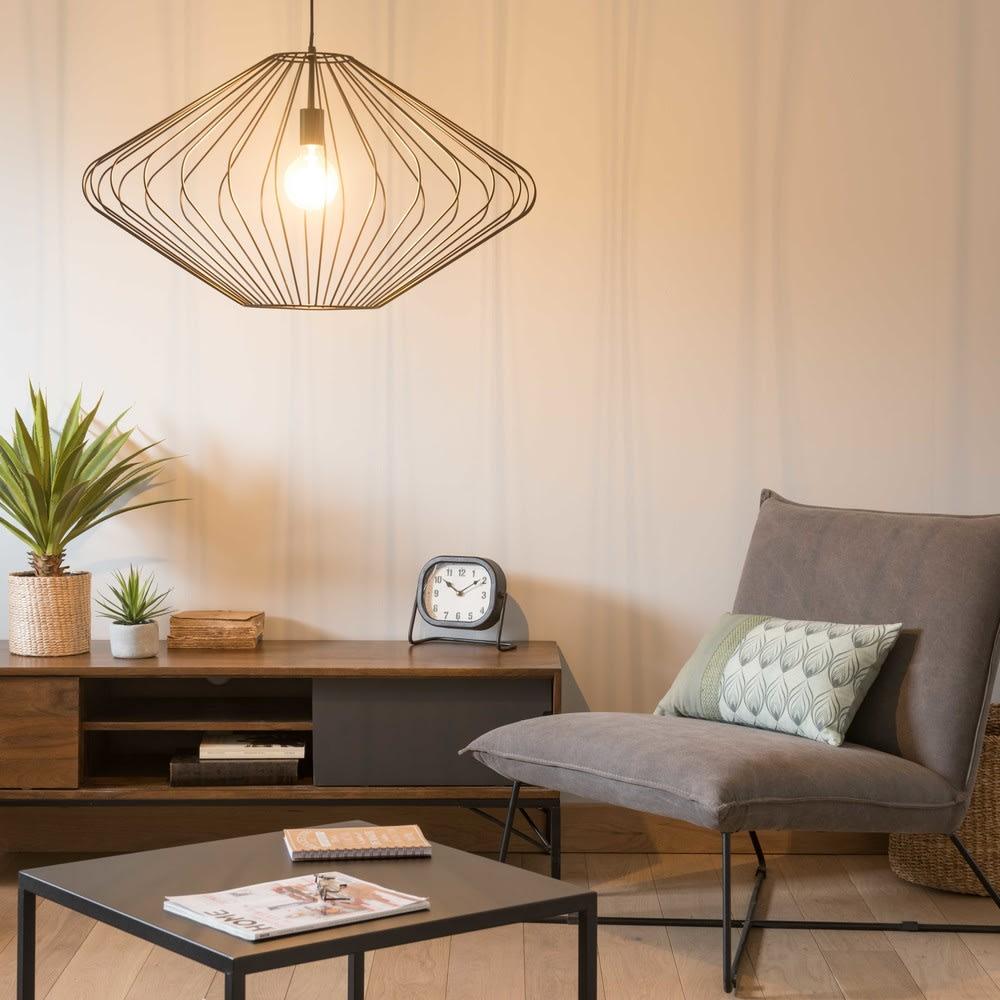 suspension filaire noire d80 douglas maisons du monde. Black Bedroom Furniture Sets. Home Design Ideas