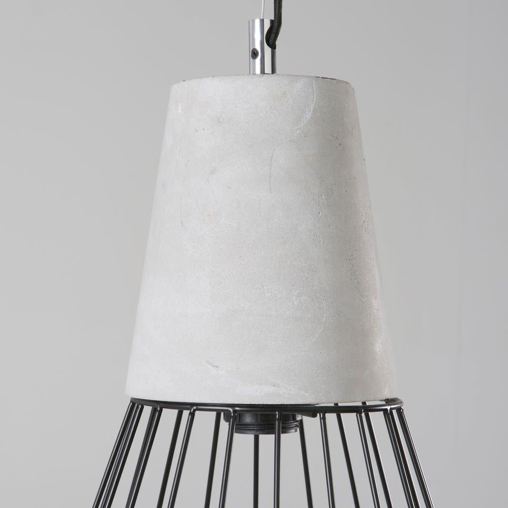 suspension filaire noire et ciment urban city maisons du. Black Bedroom Furniture Sets. Home Design Ideas