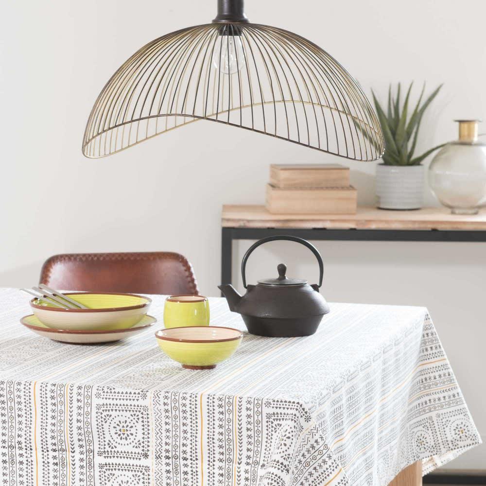 suspension filaire noire et dor e phaona maisons du monde. Black Bedroom Furniture Sets. Home Design Ideas