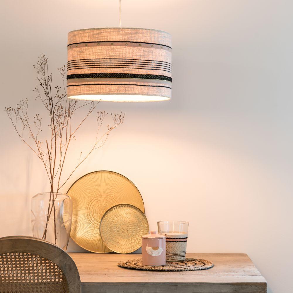 suspension non lectrifi e beige rose et noire california. Black Bedroom Furniture Sets. Home Design Ideas