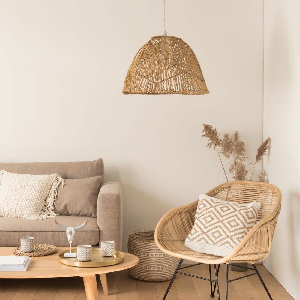 suspension non lectrifi e en corde tress e radhika. Black Bedroom Furniture Sets. Home Design Ideas