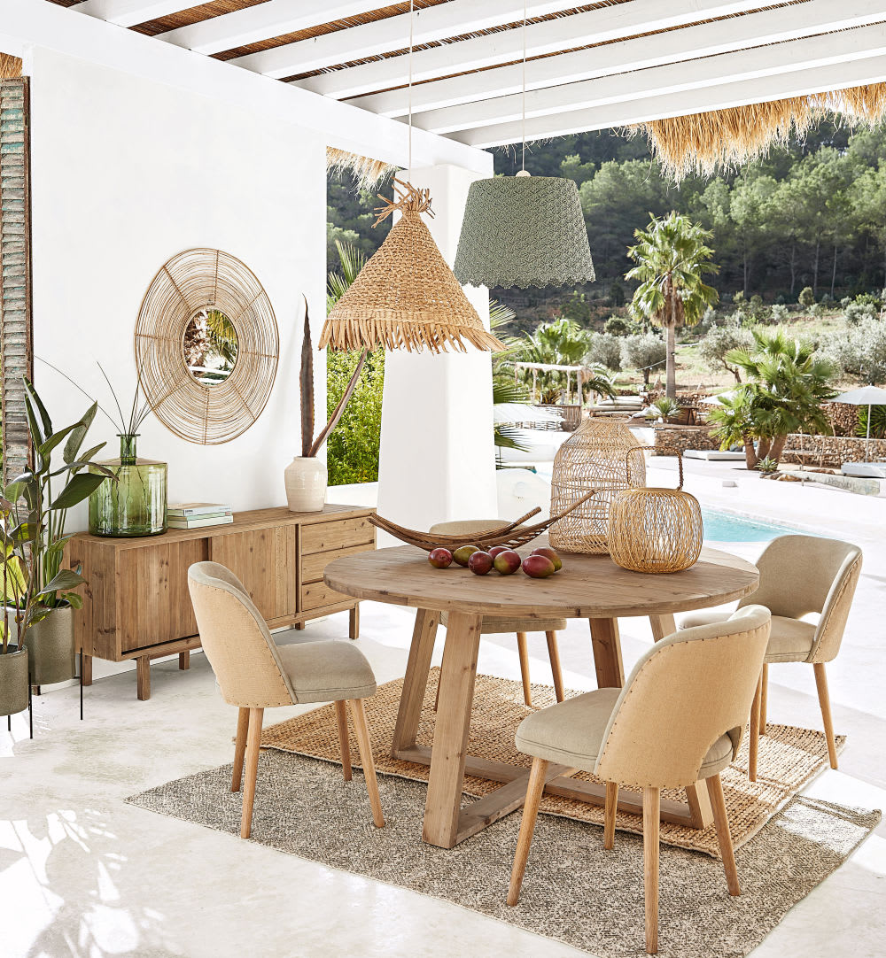 suspension non lectrifi e en crochet gris mauricette. Black Bedroom Furniture Sets. Home Design Ideas