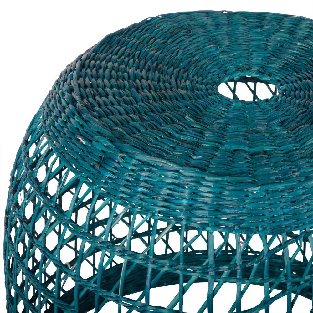 suspension non lectrifi e en fibre v g tale bleue d32. Black Bedroom Furniture Sets. Home Design Ideas