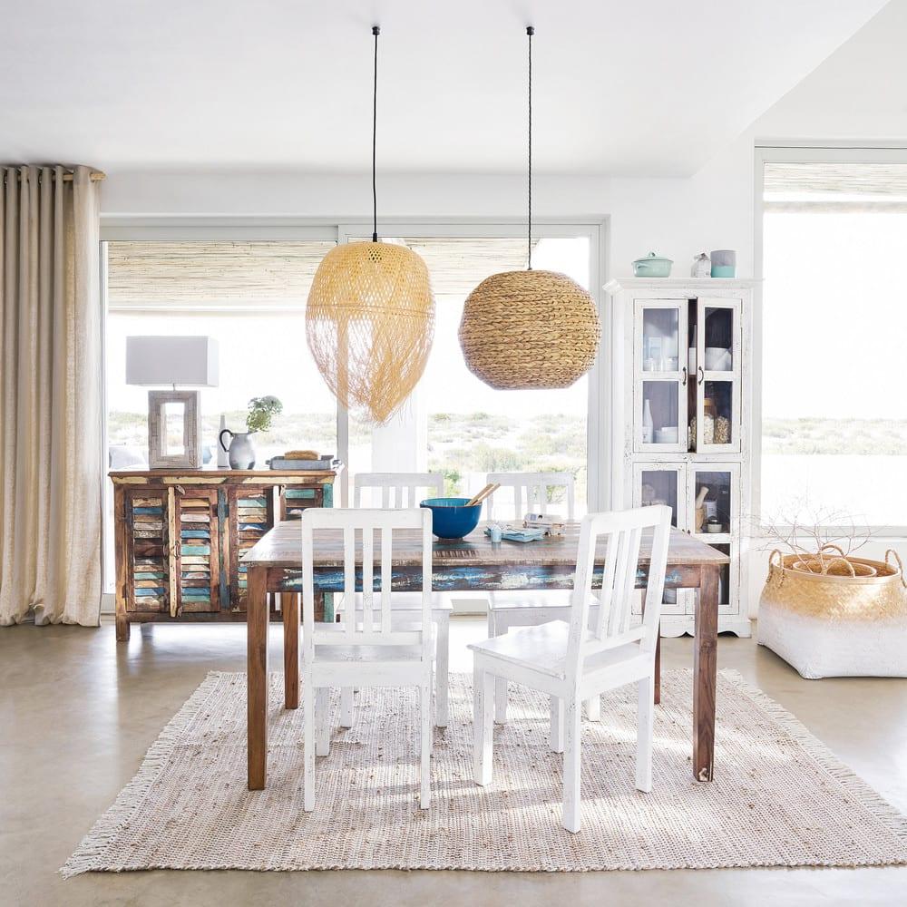 suspension non lectrifi e en jonc de mer lome maisons. Black Bedroom Furniture Sets. Home Design Ideas