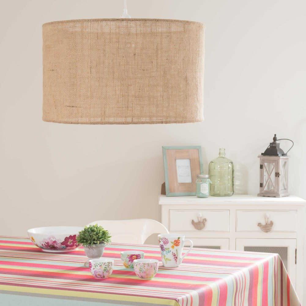 suspension non lectrifi e en toile de jute d 50 cm. Black Bedroom Furniture Sets. Home Design Ideas