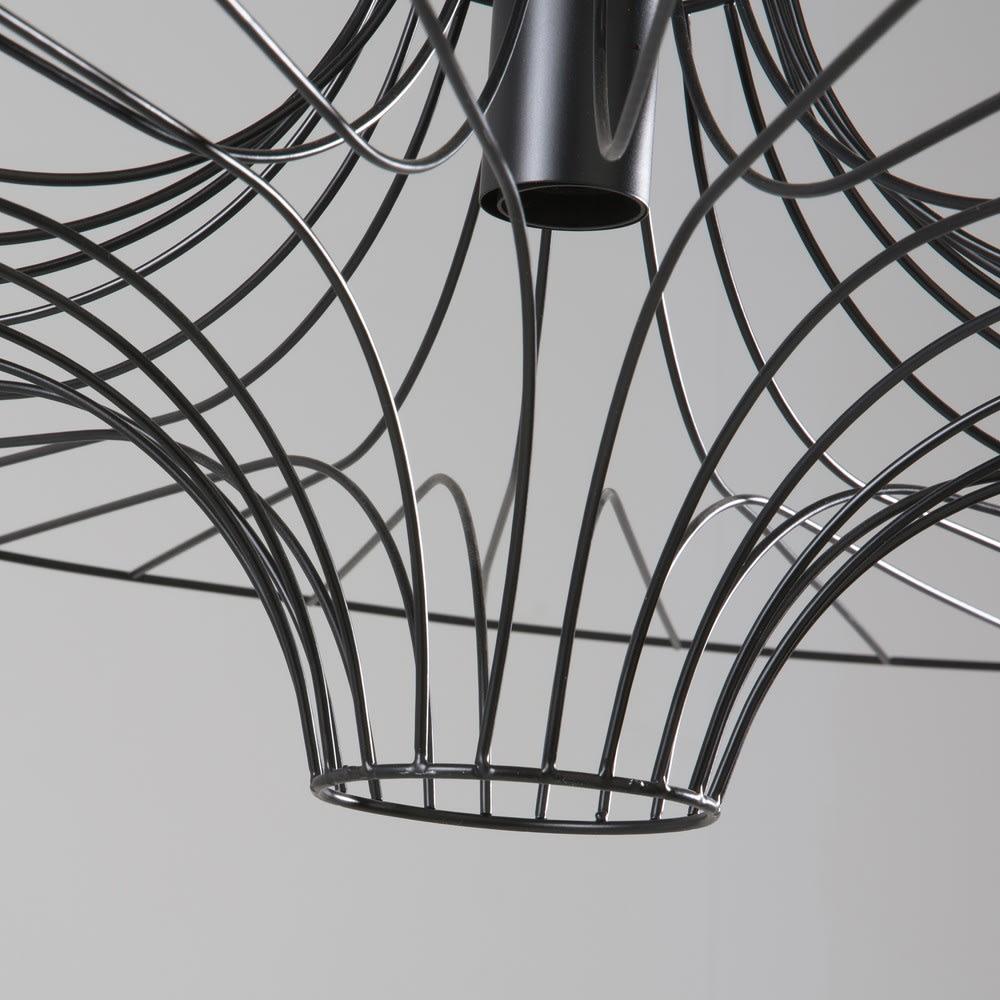 suspension ombrelle en m tal filaire noir atoll maisons. Black Bedroom Furniture Sets. Home Design Ideas