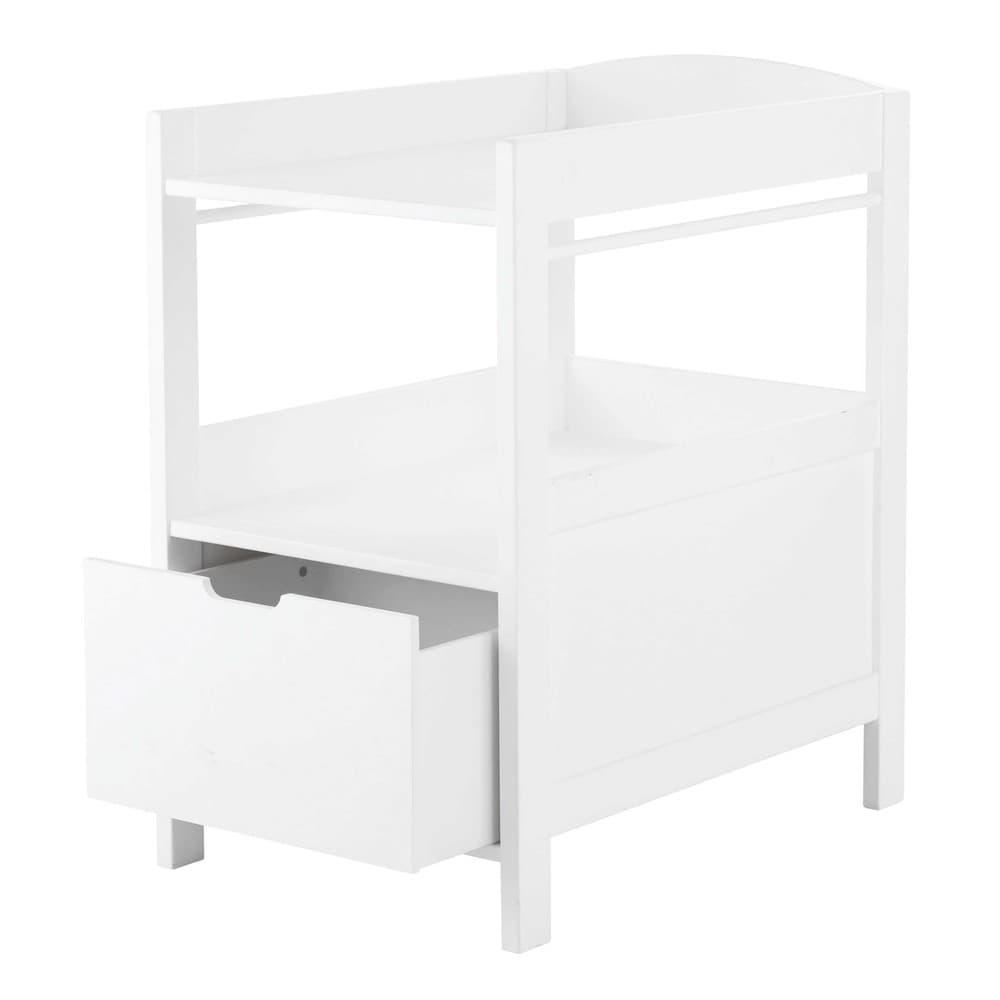 table langer 1 tiroir blanche sweet maisons du monde. Black Bedroom Furniture Sets. Home Design Ideas