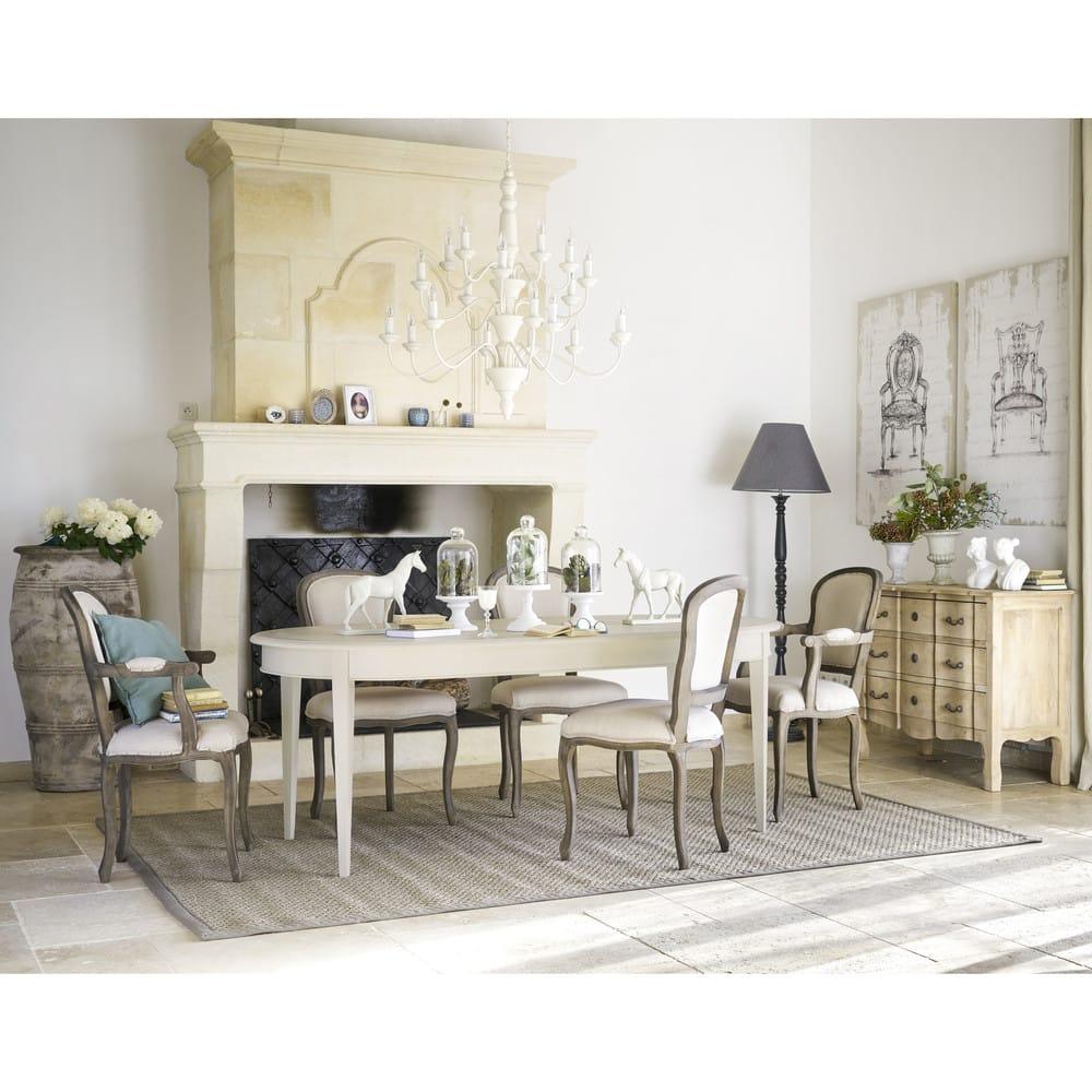 table manger 6 8 personnes blanche l200 bertille. Black Bedroom Furniture Sets. Home Design Ideas