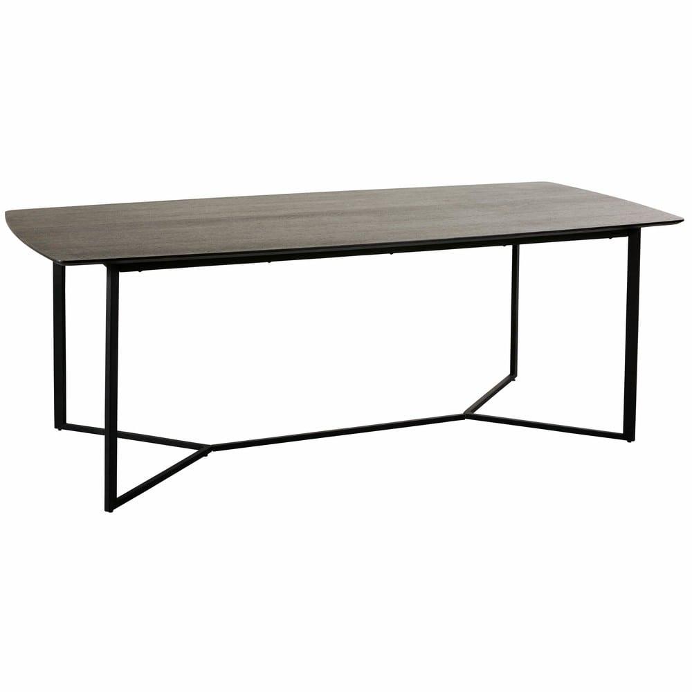 table manger 6 8 personnes noire l210 opal maisons du monde. Black Bedroom Furniture Sets. Home Design Ideas