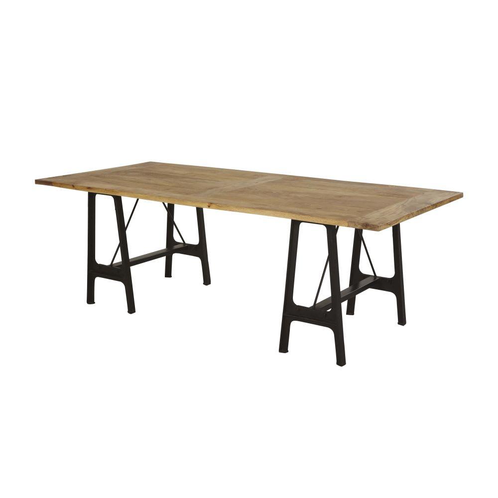 Table manger 8 10 personnes en manguier et fonte l220 Table a manger 10 personnes