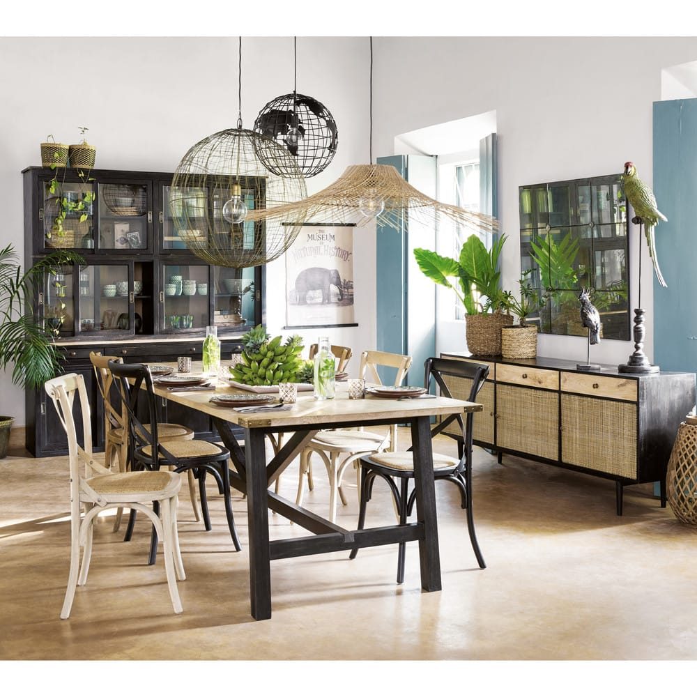table manger 8 personnes en manguier massif l240. Black Bedroom Furniture Sets. Home Design Ideas