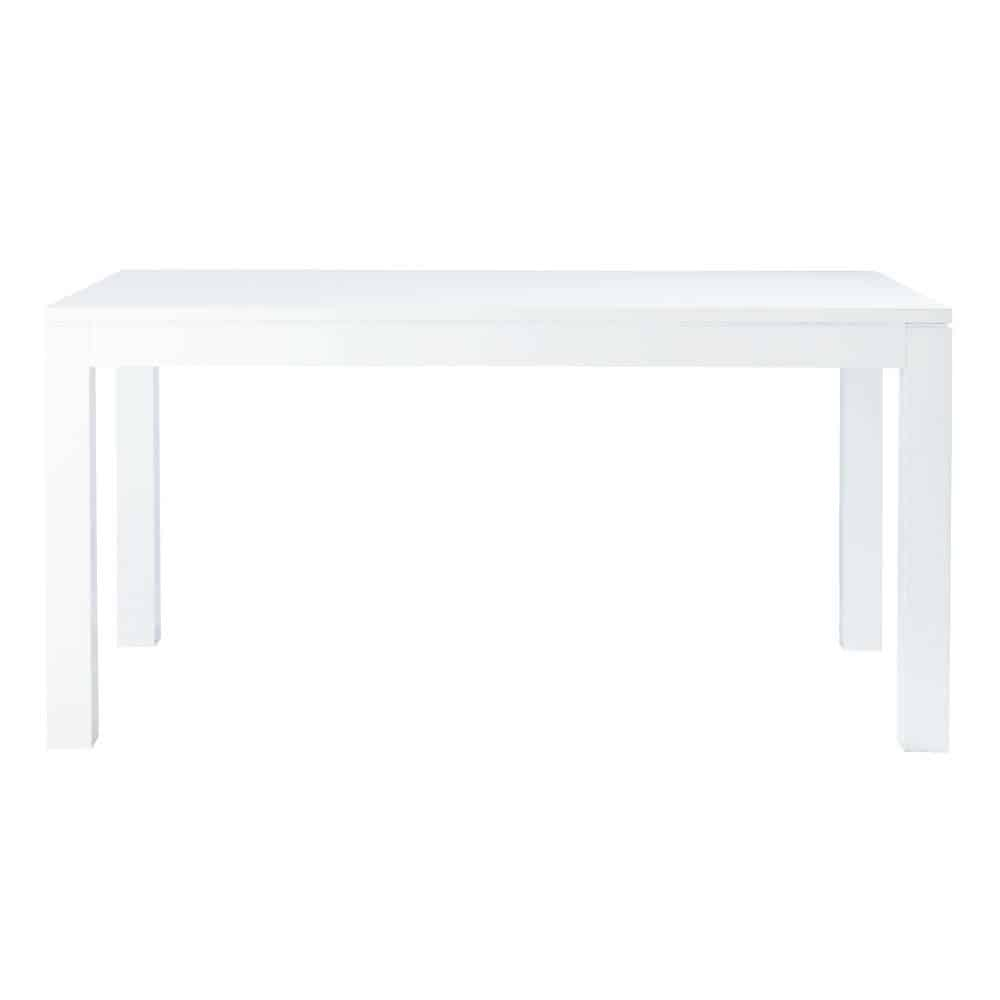 pure - table à manger blanc laqué 6/8 personnes l160