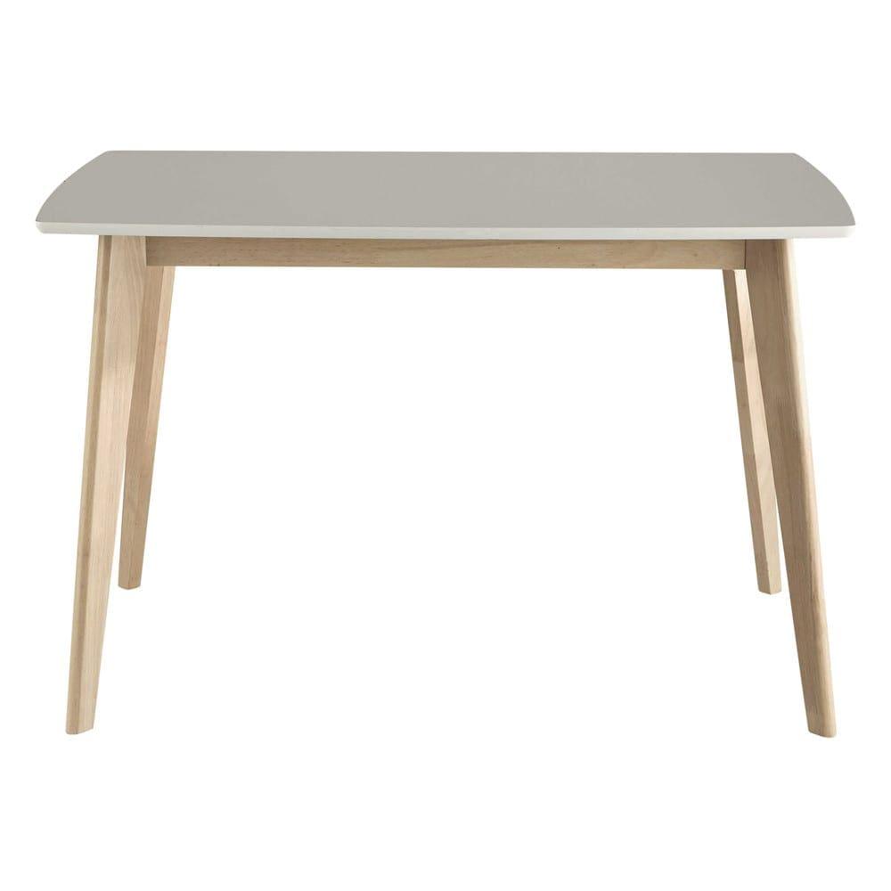 table manger blanche 4 6 personnes l120 mia maisons du monde. Black Bedroom Furniture Sets. Home Design Ideas