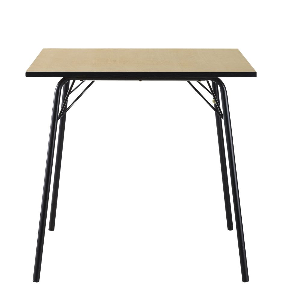 table manger carr e 6 8 personnes l80 blackout maisons. Black Bedroom Furniture Sets. Home Design Ideas