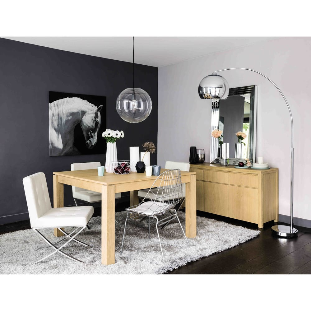 table manger carr e extensible 4 8 personnes en ch ne. Black Bedroom Furniture Sets. Home Design Ideas