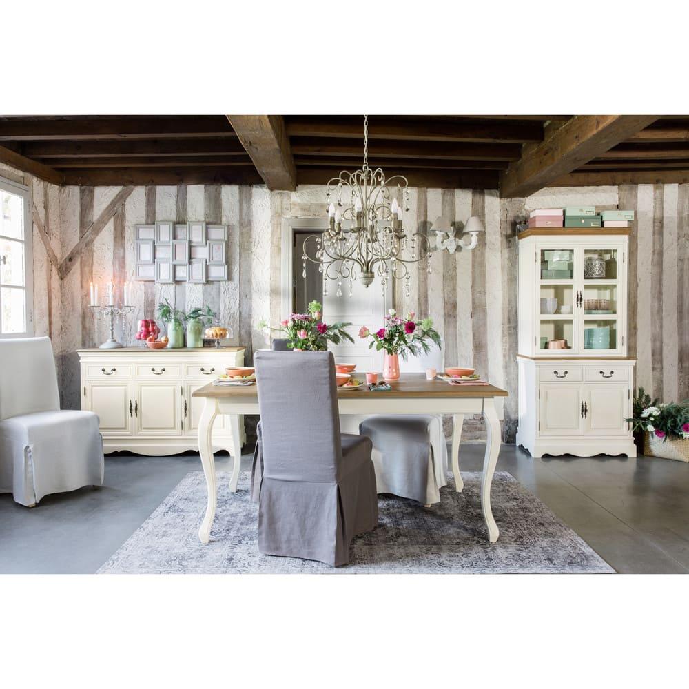 table manger cr me l160 l ontine maisons du monde. Black Bedroom Furniture Sets. Home Design Ideas