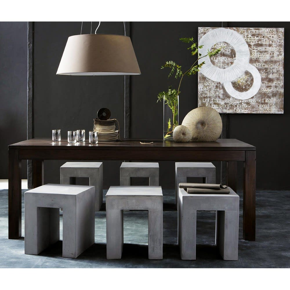 table manger en manguier massif 8 10 personnes l200. Black Bedroom Furniture Sets. Home Design Ideas