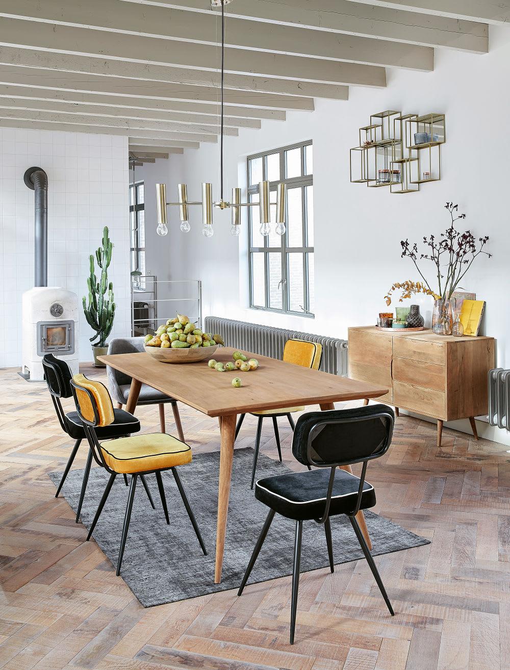 table manger en manguier massif 8 personnes l175. Black Bedroom Furniture Sets. Home Design Ideas