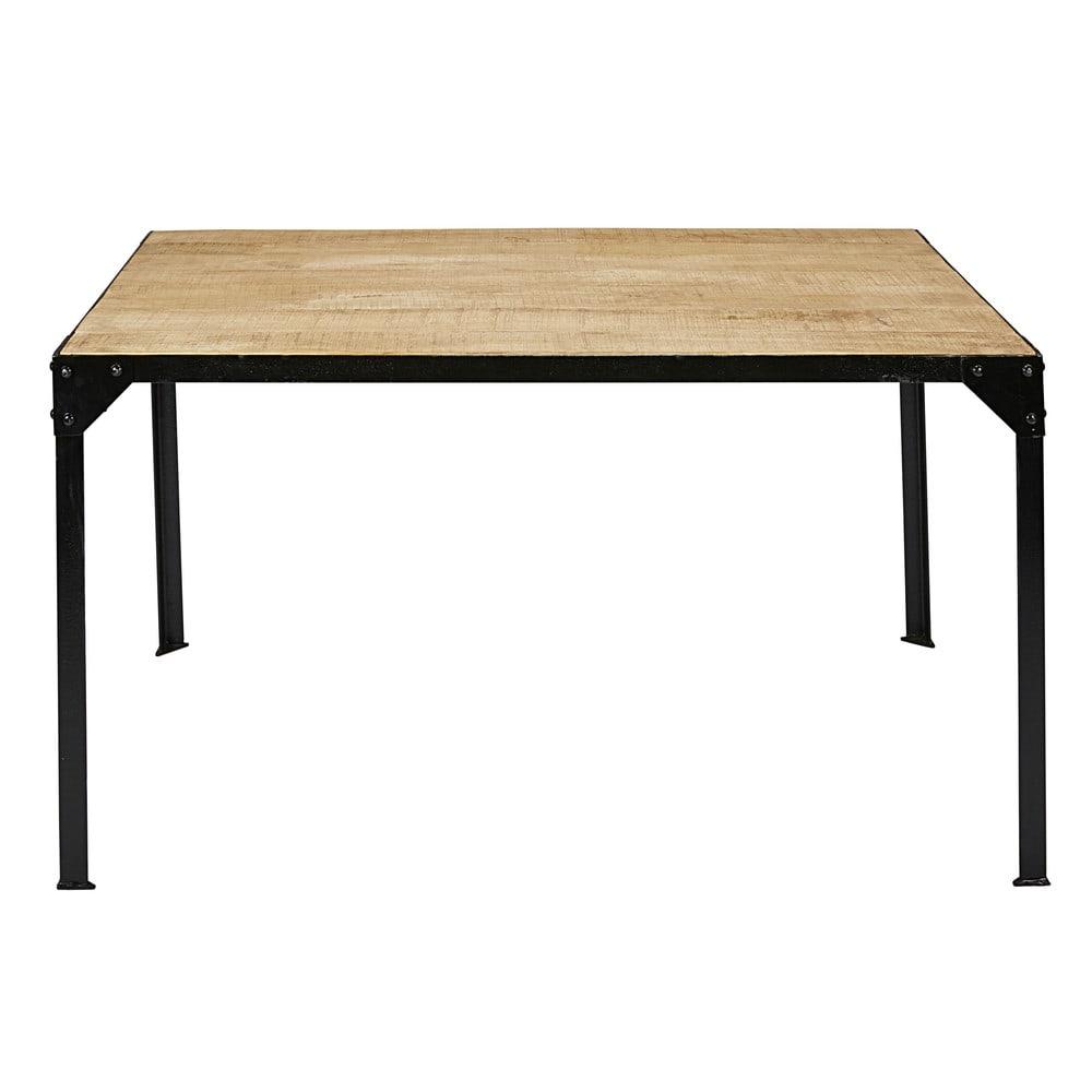 Table A Manger En Manguier Massif Et Metal 6 Personnes L140 Factory