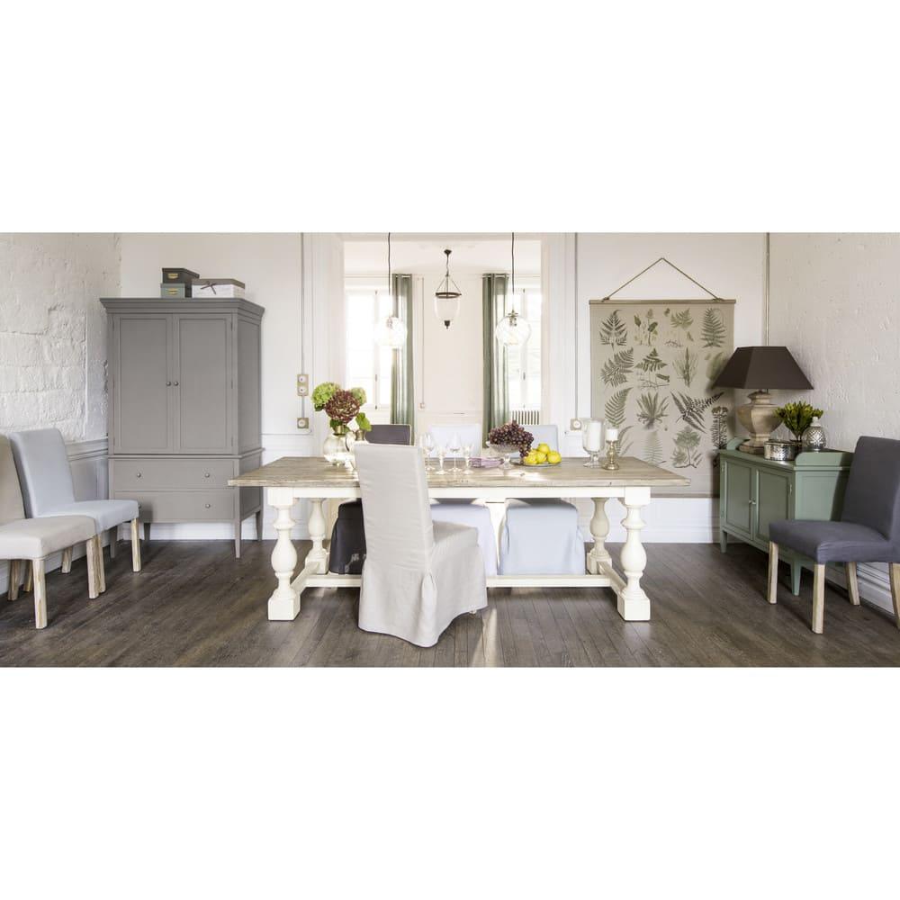 table manger en pin massif 8 personnes l250 montmorency maisons du monde. Black Bedroom Furniture Sets. Home Design Ideas