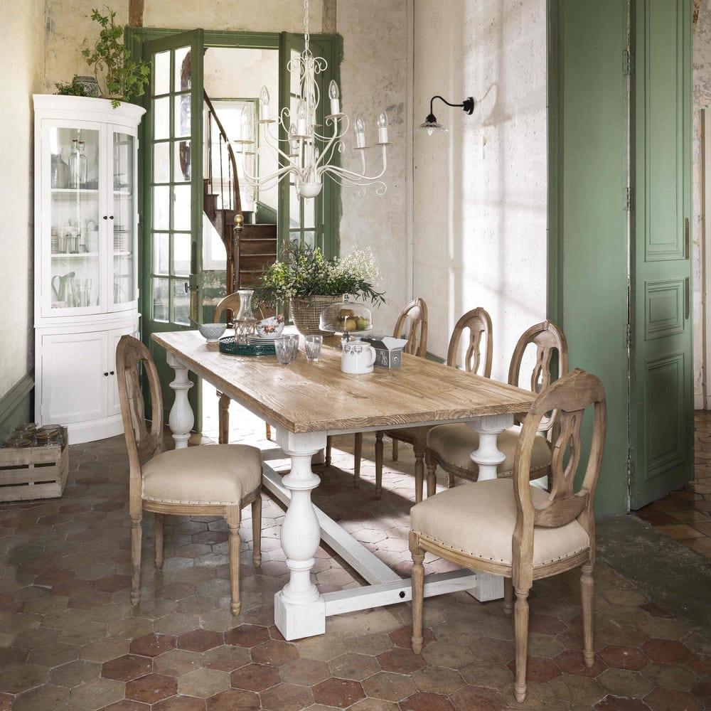 table manger en pin massif 8 personnes l250 montmorency. Black Bedroom Furniture Sets. Home Design Ideas