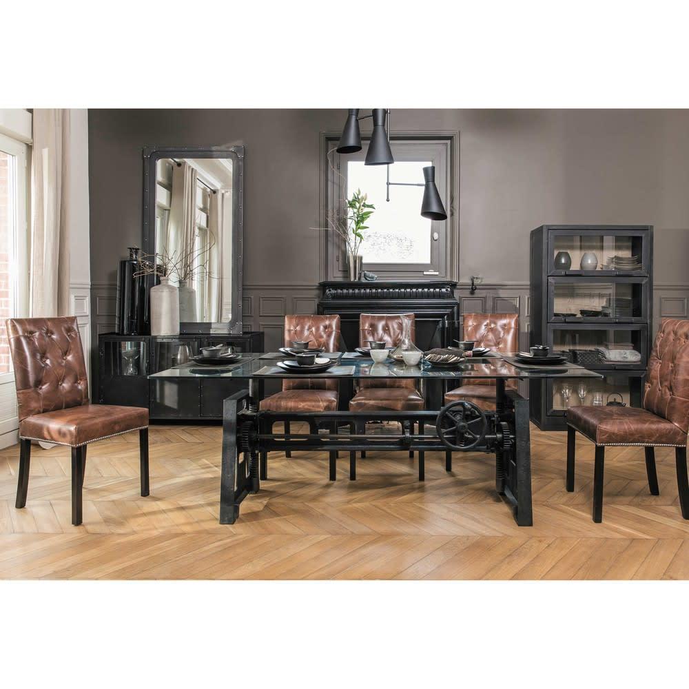 Table A Manger En Verre Et Metal 10 Personnes L200 Garibaldi