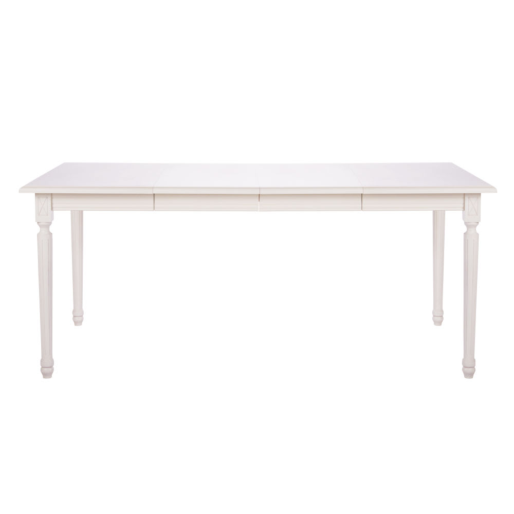table manger extensible 4 8 personnes blanche l100 180 louis maisons du monde. Black Bedroom Furniture Sets. Home Design Ideas