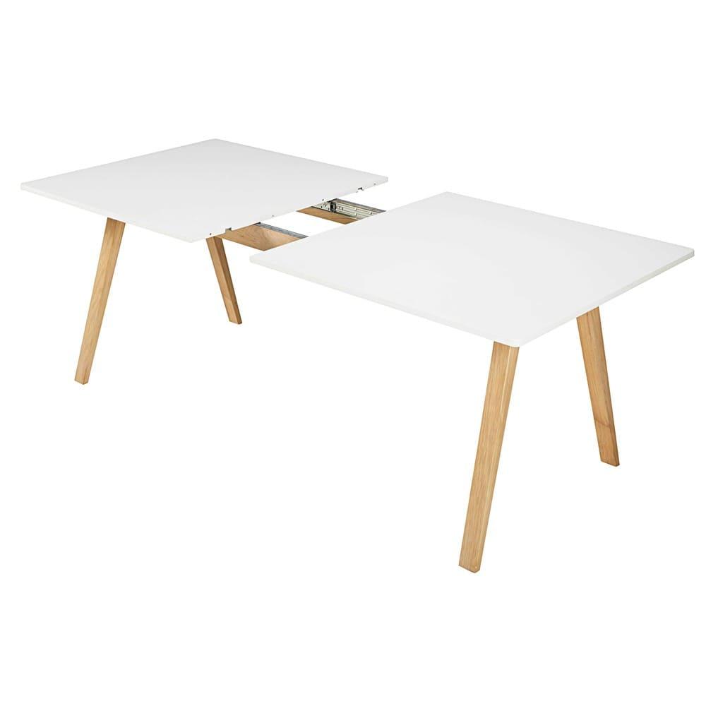 table manger extensible 8 10 personnes blanche l200 245 ghost maisons du monde. Black Bedroom Furniture Sets. Home Design Ideas