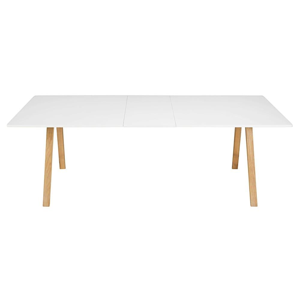 Table à manger extensible 8 à 10 personnes blanche L200 245 Ghost ... c20645965c1f