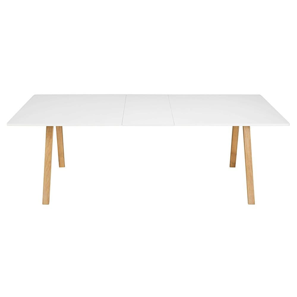 table manger extensible 8 10 personnes blanche l200. Black Bedroom Furniture Sets. Home Design Ideas