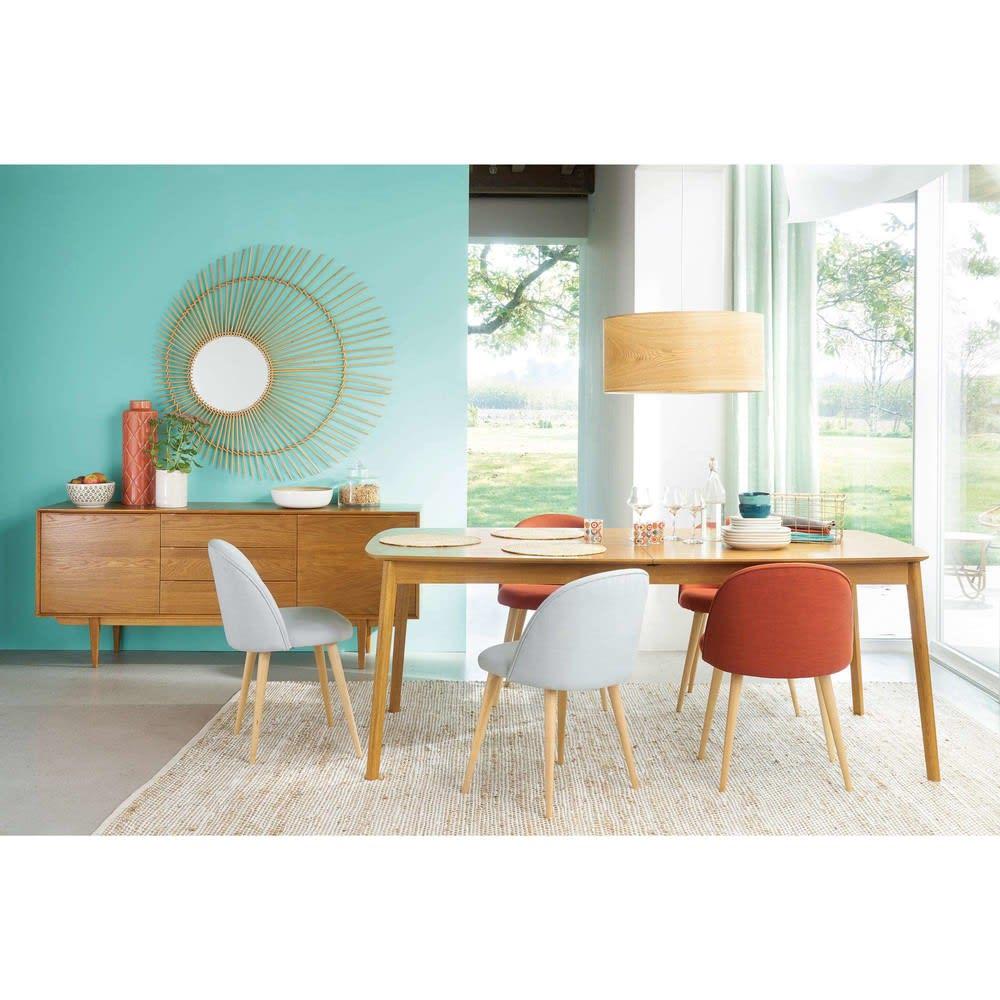 table manger extensible 8 12 personnes en ch ne l200 300 portobello maisons du monde. Black Bedroom Furniture Sets. Home Design Ideas
