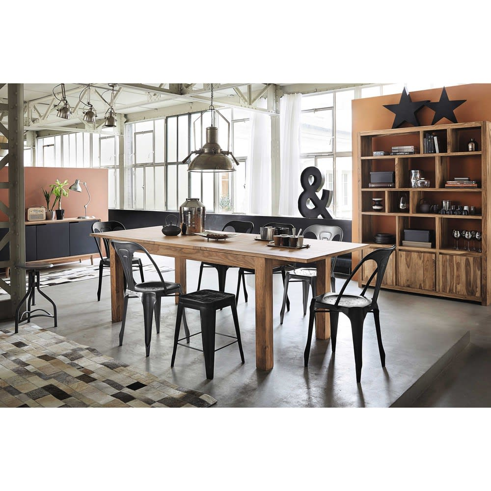 table manger extensible en sheesham 8 10 personnes. Black Bedroom Furniture Sets. Home Design Ideas