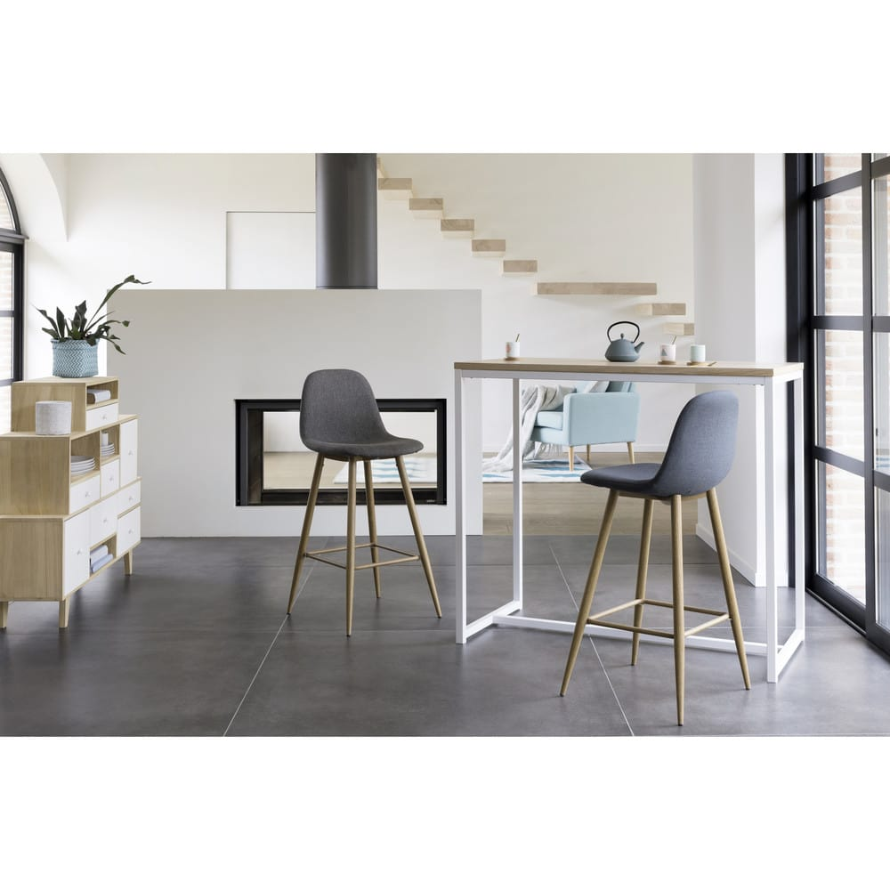 table manger haute en m tal blanc 4 6 personnes l120 igloo maisons du monde. Black Bedroom Furniture Sets. Home Design Ideas