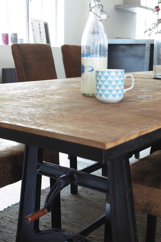 table manger indus extensible 8 10 personnes l180 220. Black Bedroom Furniture Sets. Home Design Ideas
