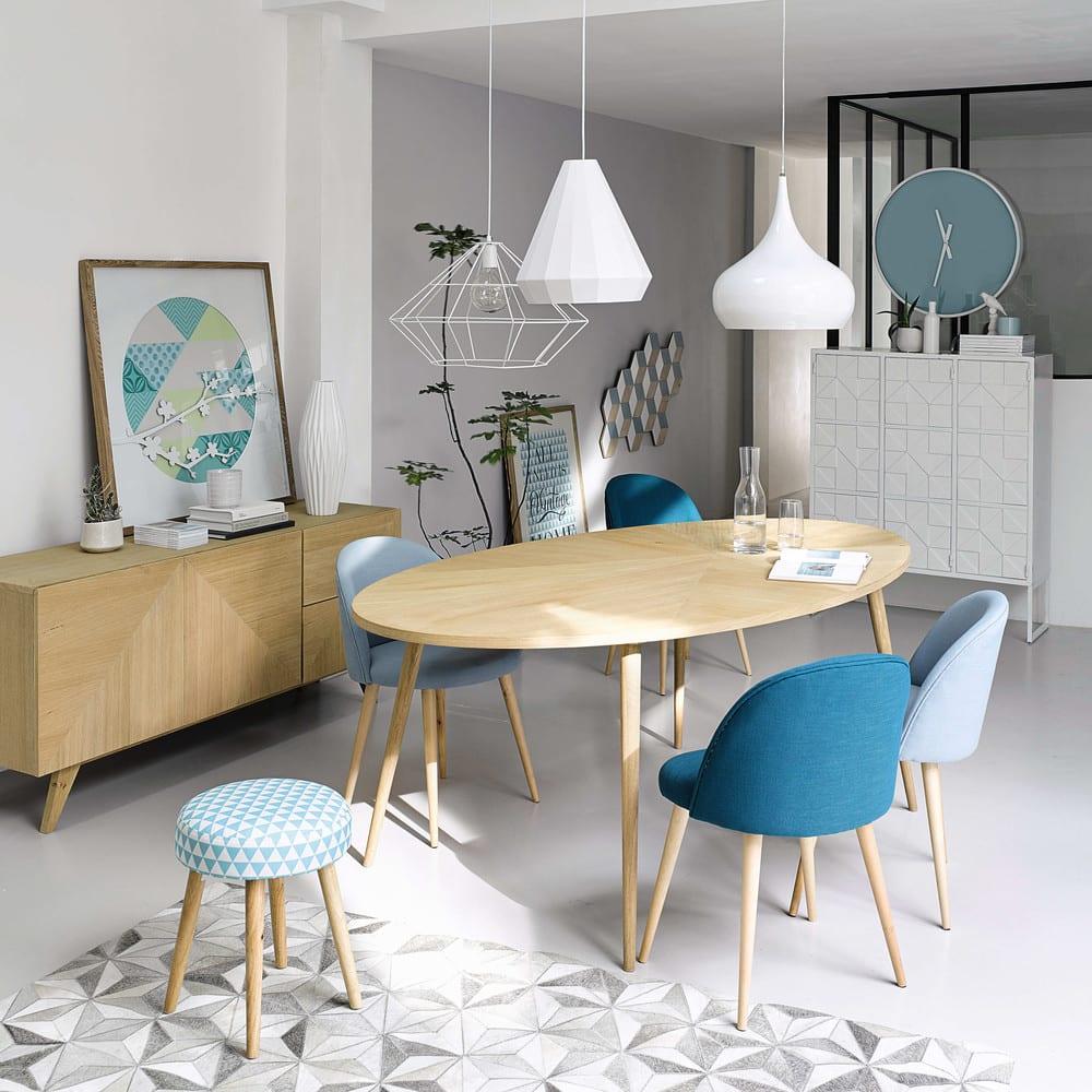 table manger ovale 8 personnes l200 origami maisons du. Black Bedroom Furniture Sets. Home Design Ideas