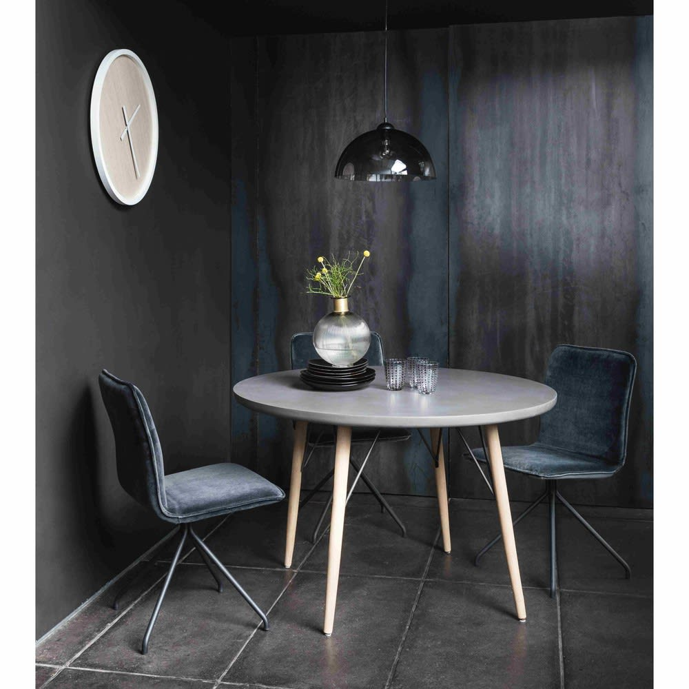 table manger ronde 4 personnes d120 cleveland maisons. Black Bedroom Furniture Sets. Home Design Ideas