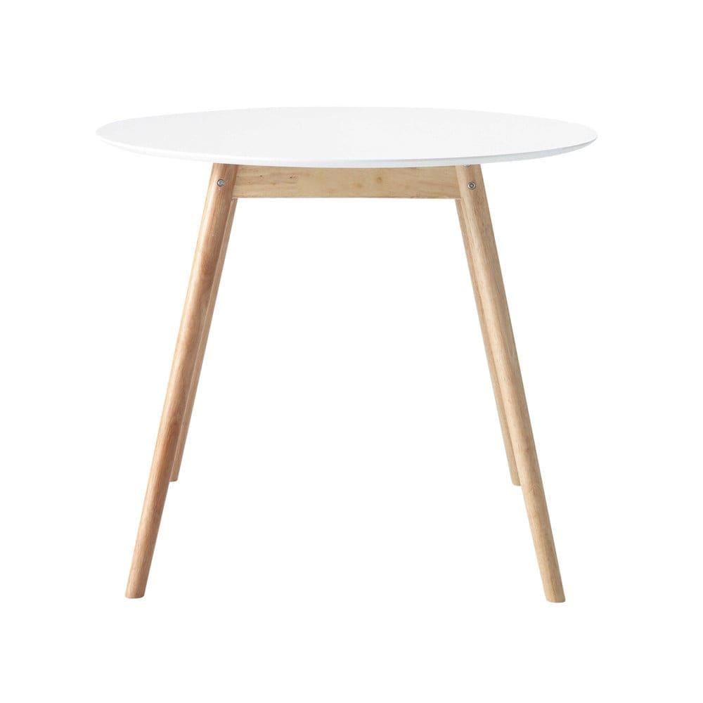Table à manger ronde blanche 4 personnes D90 Spring | Maisons du Monde