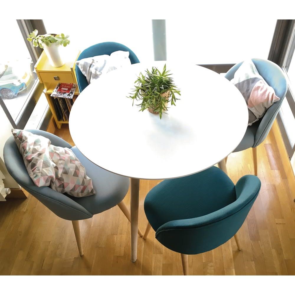 table manger ronde blanche 4 personnes d90 spring maisons du monde. Black Bedroom Furniture Sets. Home Design Ideas
