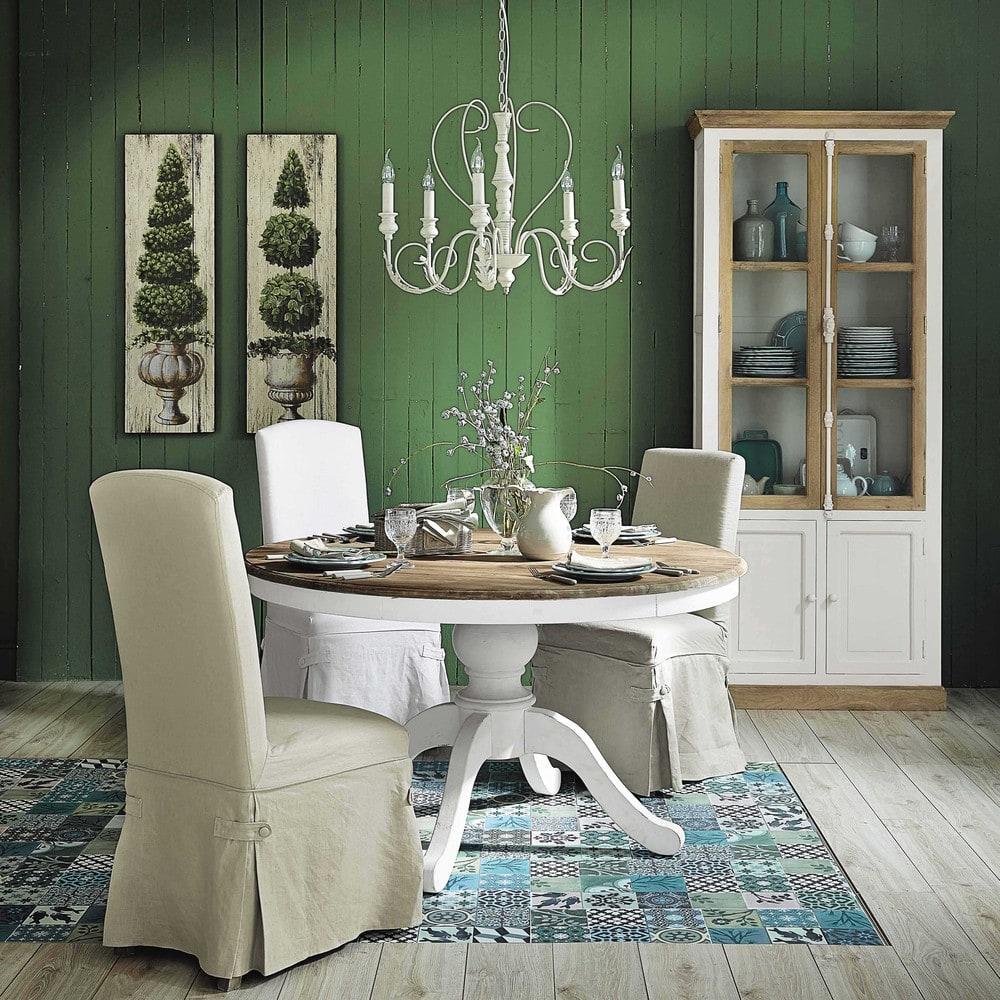 table manger ronde en bouleau 6 8 personnes d140 provence maisons du monde. Black Bedroom Furniture Sets. Home Design Ideas