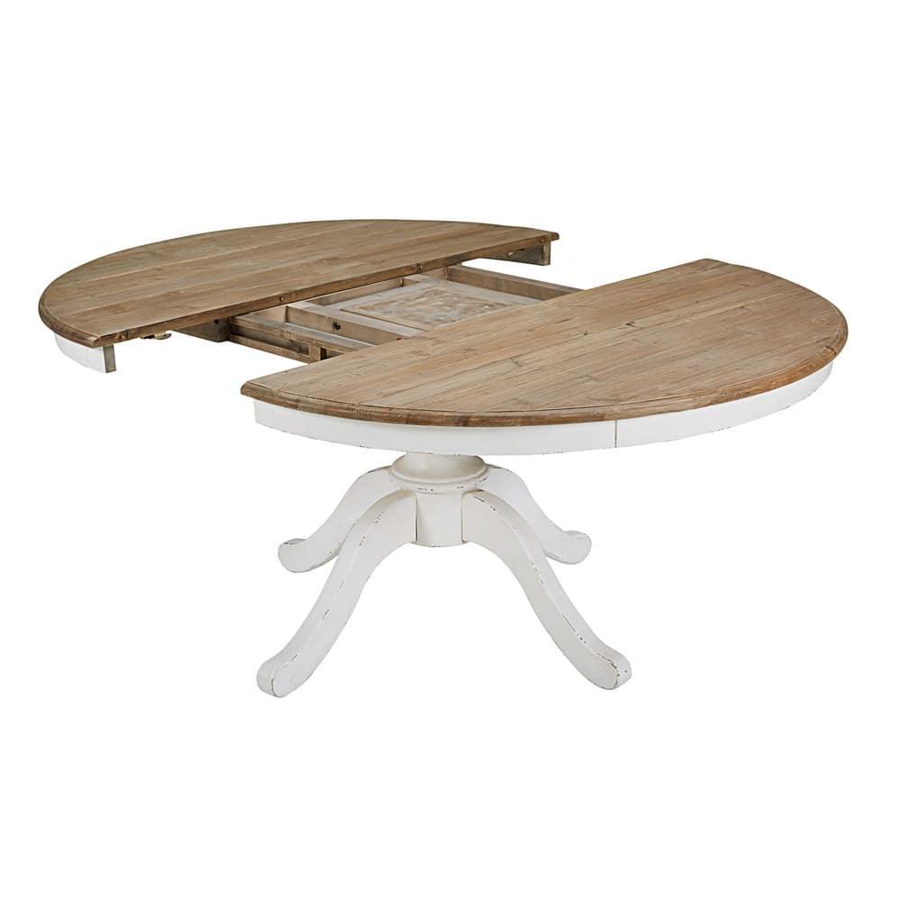 table manger ronde extensible 6 8 personnes l140 190. Black Bedroom Furniture Sets. Home Design Ideas