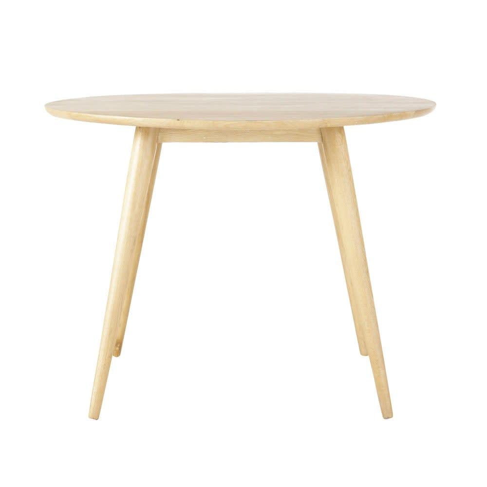 Table à manger ronde vintage en chêne massif 4 personnes D100 Norway ...