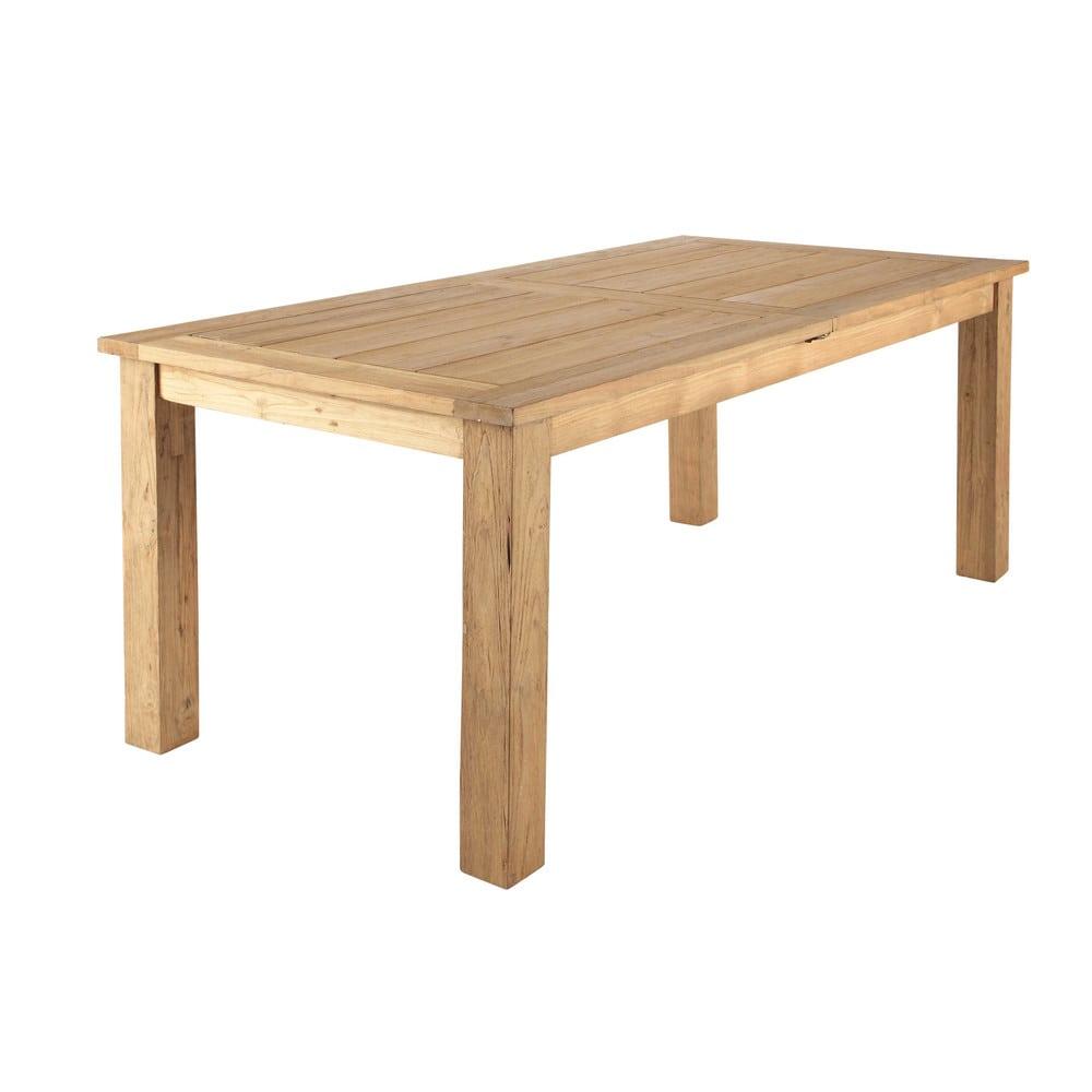 Table à rallonge de jardin en teck recyclé L200 Cassiopee | Maisons ...