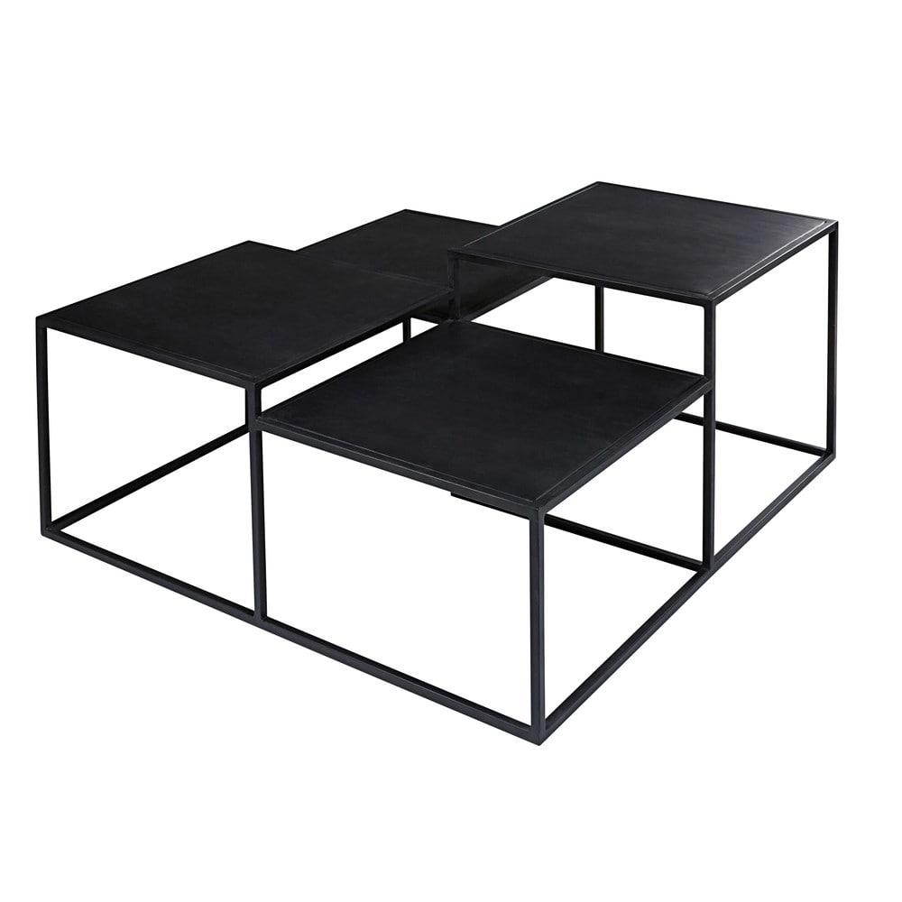 table basse 4 plateaux en m tal noir edison maisons du monde. Black Bedroom Furniture Sets. Home Design Ideas