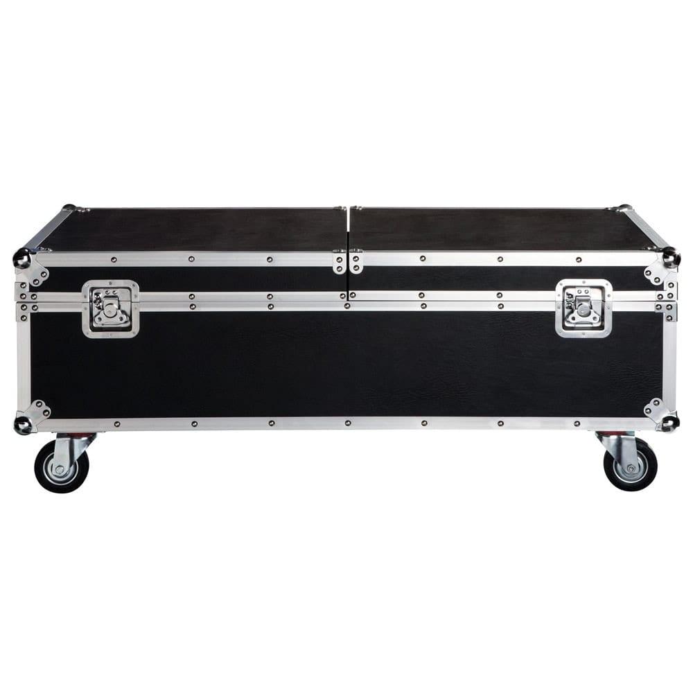 cinéma - table basse à roulettes noire l 120 cm