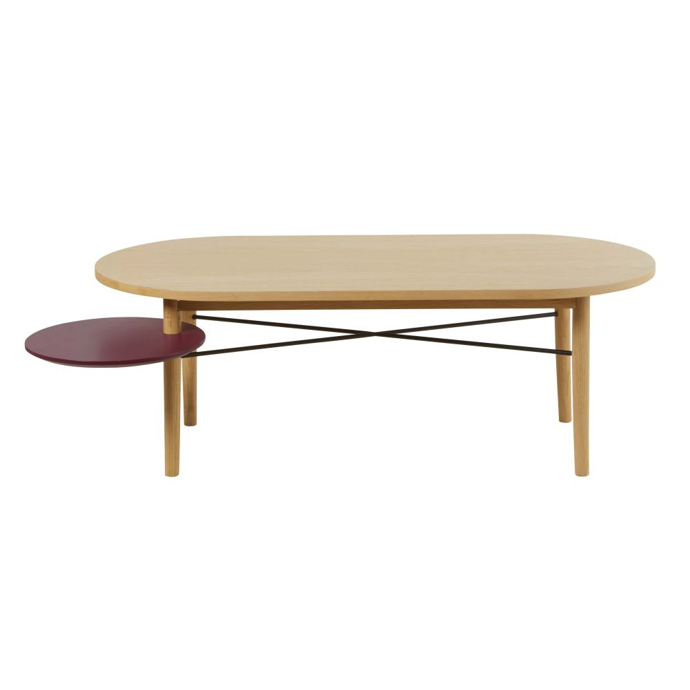 table basse avec plateau rond pivotant bordeaux workshop maisons du monde. Black Bedroom Furniture Sets. Home Design Ideas