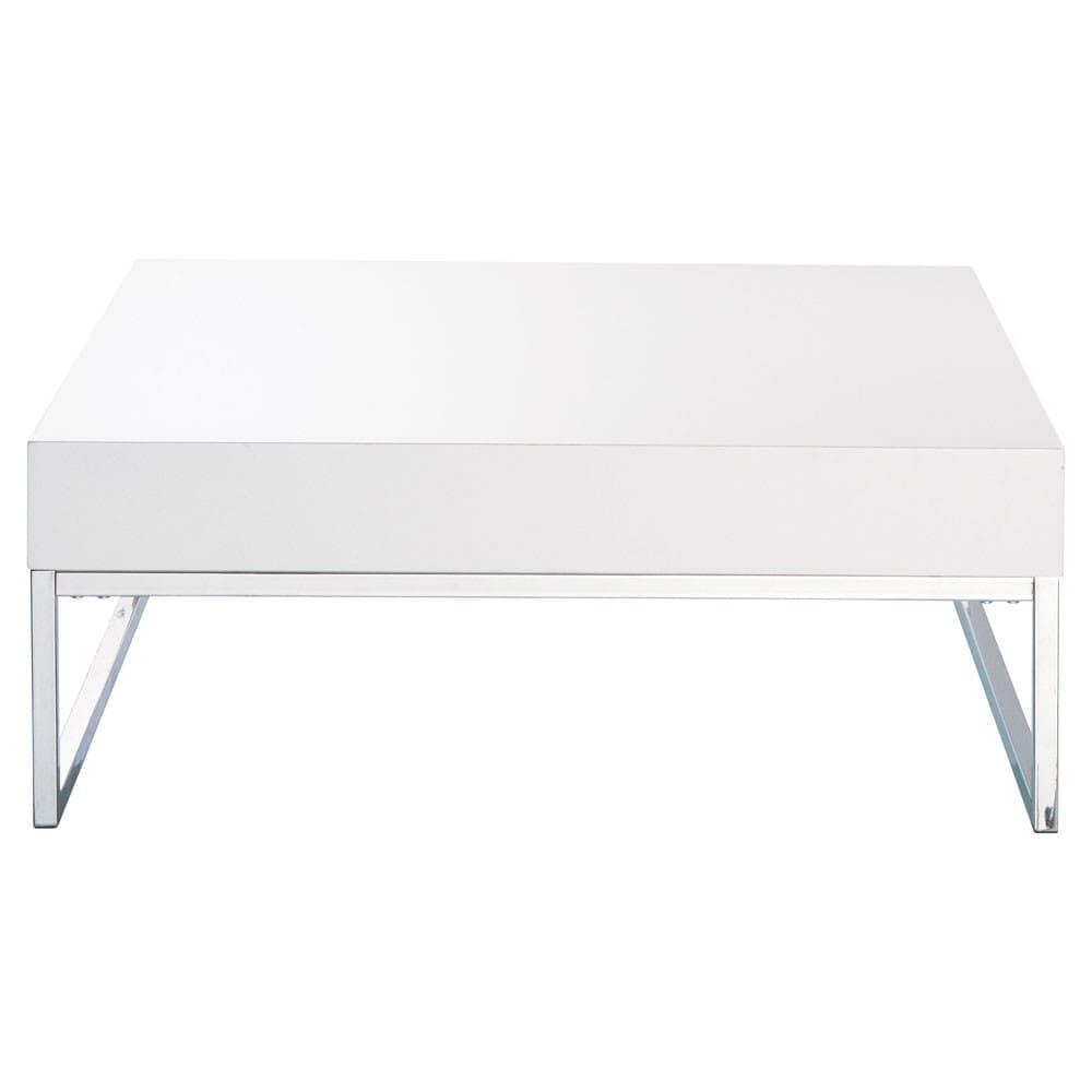 table basse blanc laqu easy maisons du monde. Black Bedroom Furniture Sets. Home Design Ideas