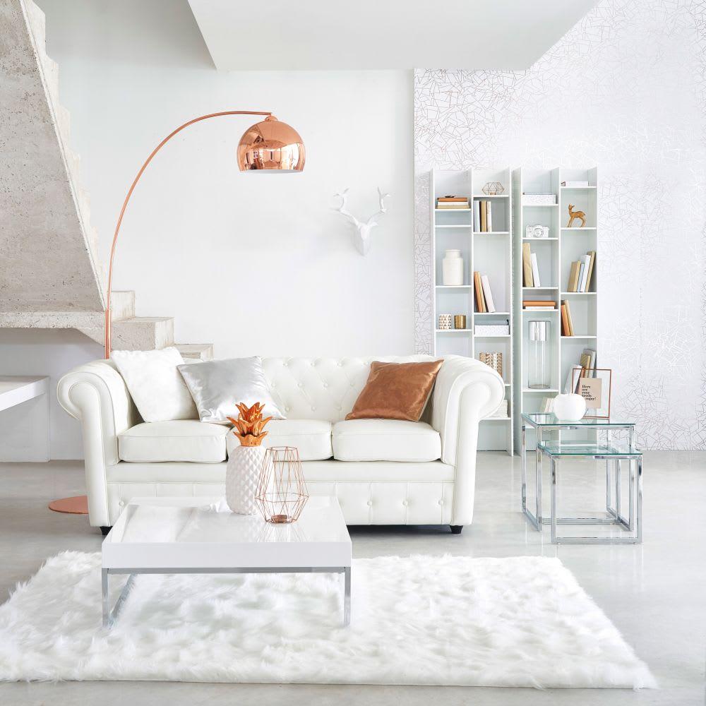 Table basse blanc laqué Easy   Maisons du Monde