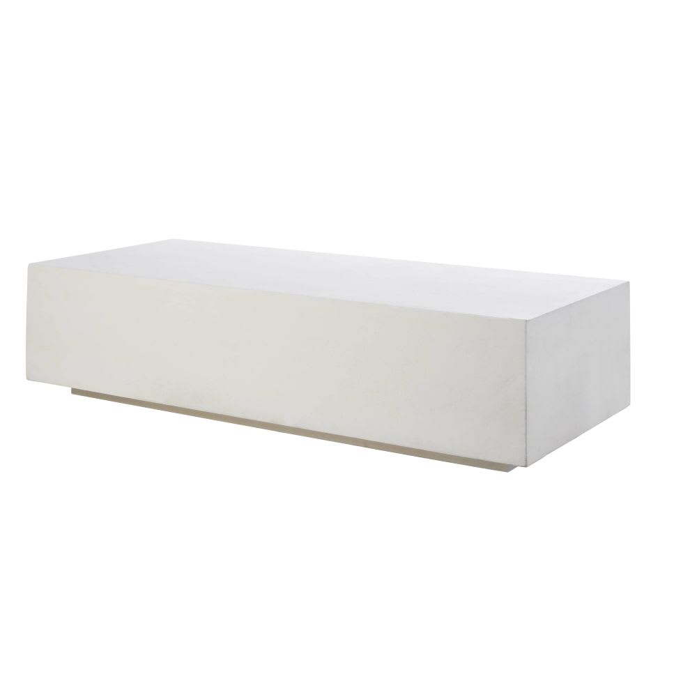 table basse blanche effet b ton miso maisons du monde. Black Bedroom Furniture Sets. Home Design Ideas