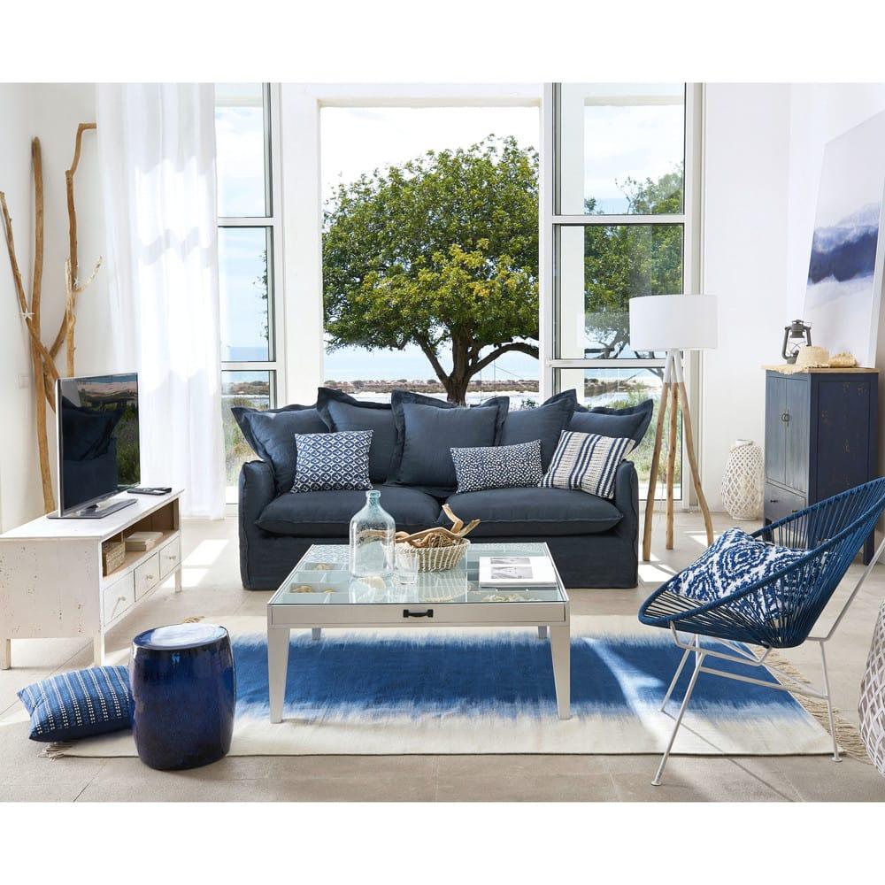 table basse casiers 1 tiroir en sapin massif et verre. Black Bedroom Furniture Sets. Home Design Ideas